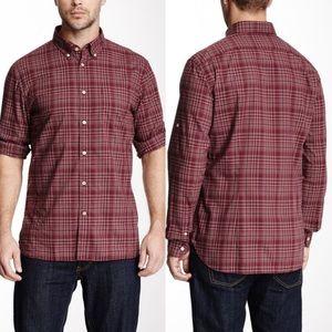 John Varvatos Star USA Button Down Plaid Shirt